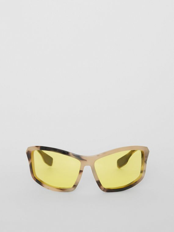 Wrap Frame Sunglasses in Yellow
