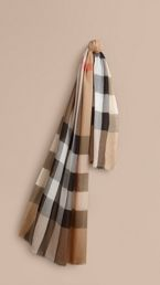 Check Modal Cashmere and Silk Scarf
