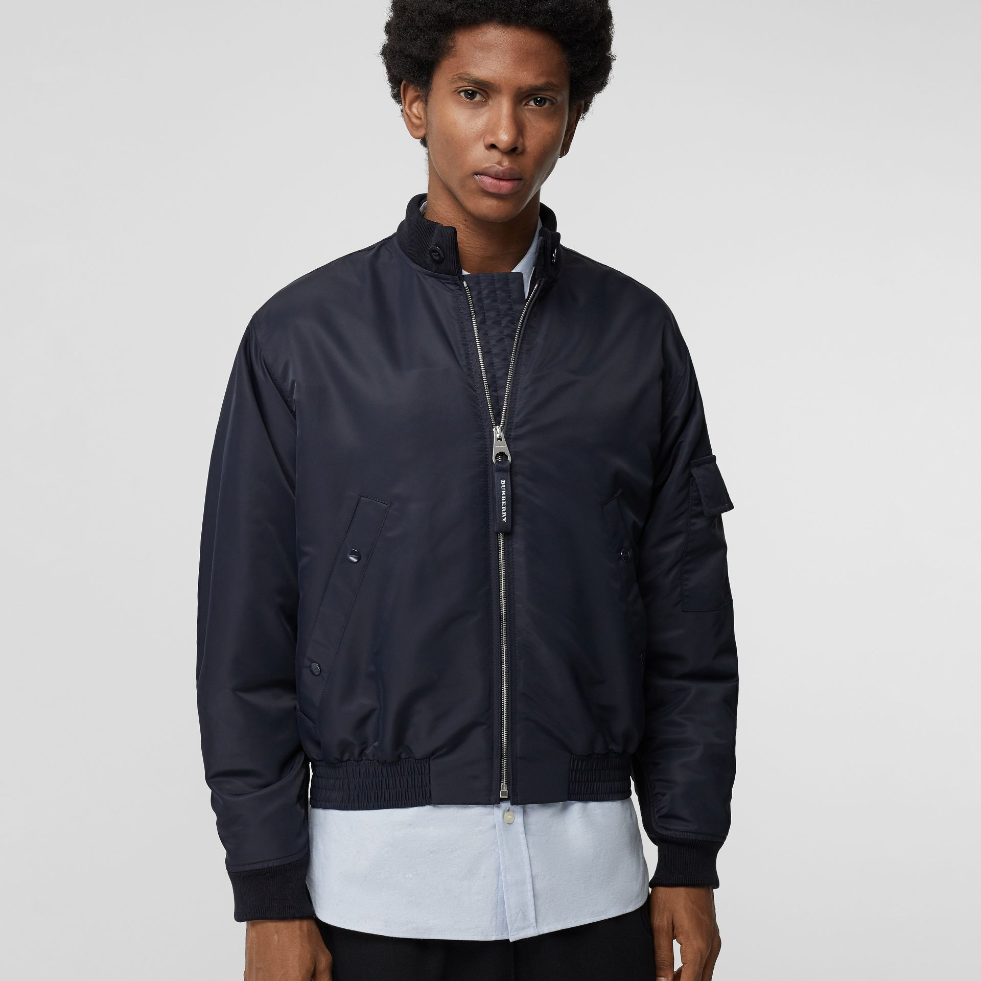 Padded Nylon Bomber Jacket in Navy - Men | Burberry Canada - gallery image 3