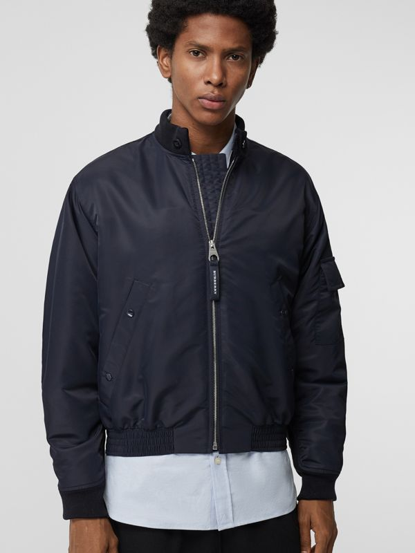 Padded Nylon Bomber Jacket in Navy - Men | Burberry - cell image 3