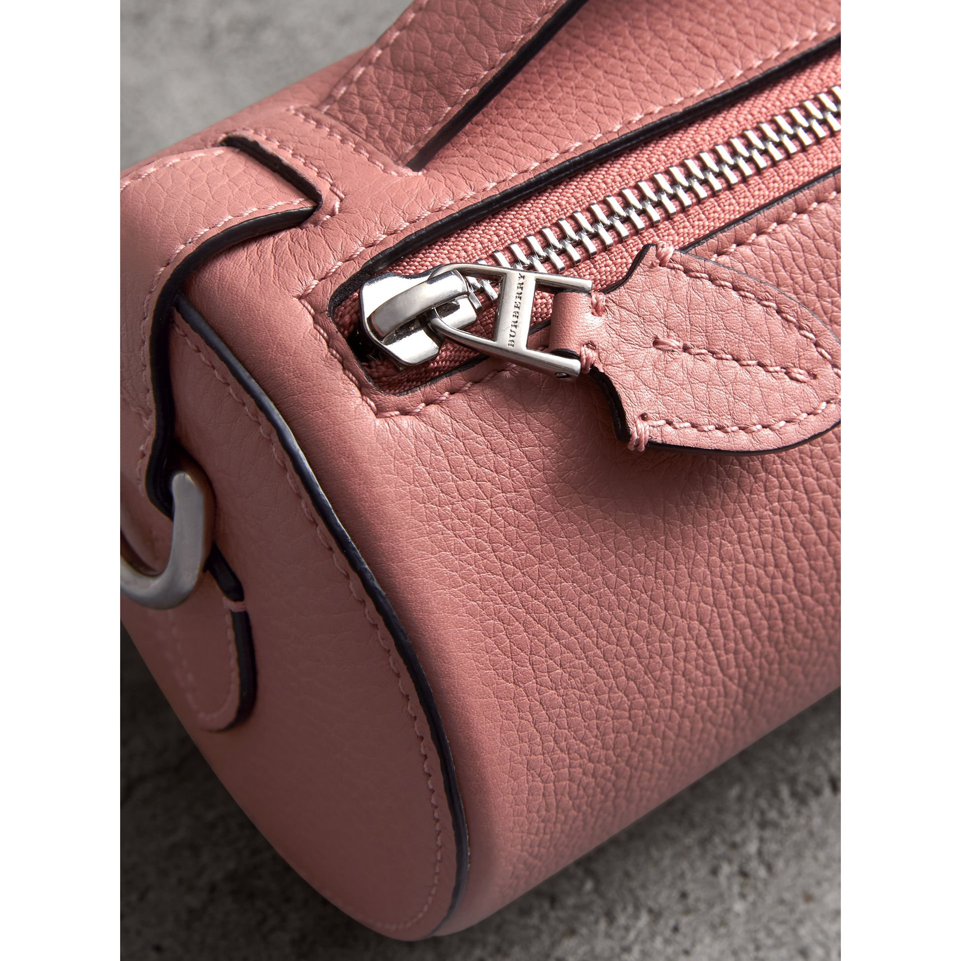 The Leather Barrel Bag in Dusty Rose - Women | Burberry - gallery image 1