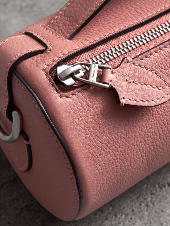 The Leather Barrel Bag in Dusty Rose - Women | Burberry Canada - cell image 1