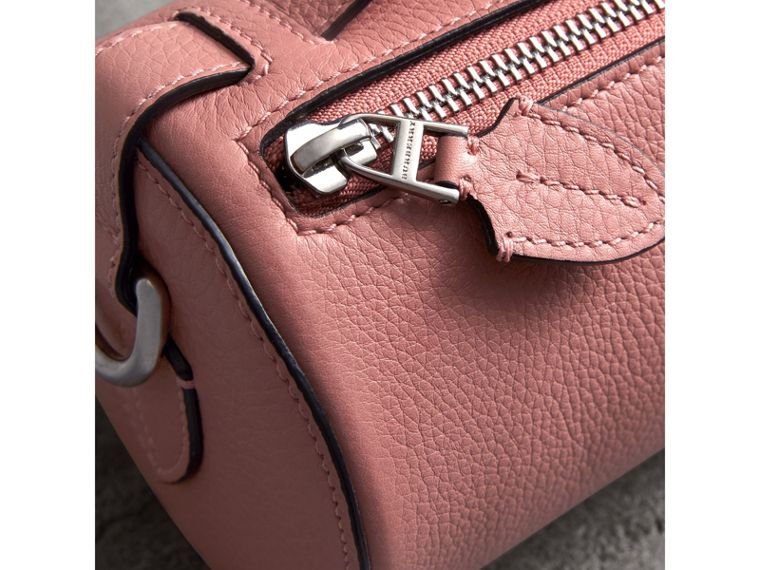 The Leather Barrel Bag in Dusty Rose - Women | Burberry - cell image 1