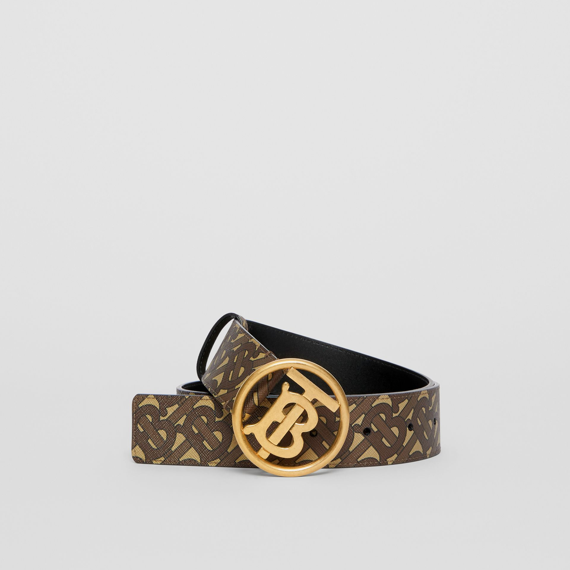 Monogram Motif Monogram Print E-canvas Belt in Bridle Brown - Women | Burberry United Kingdom - gallery image 0