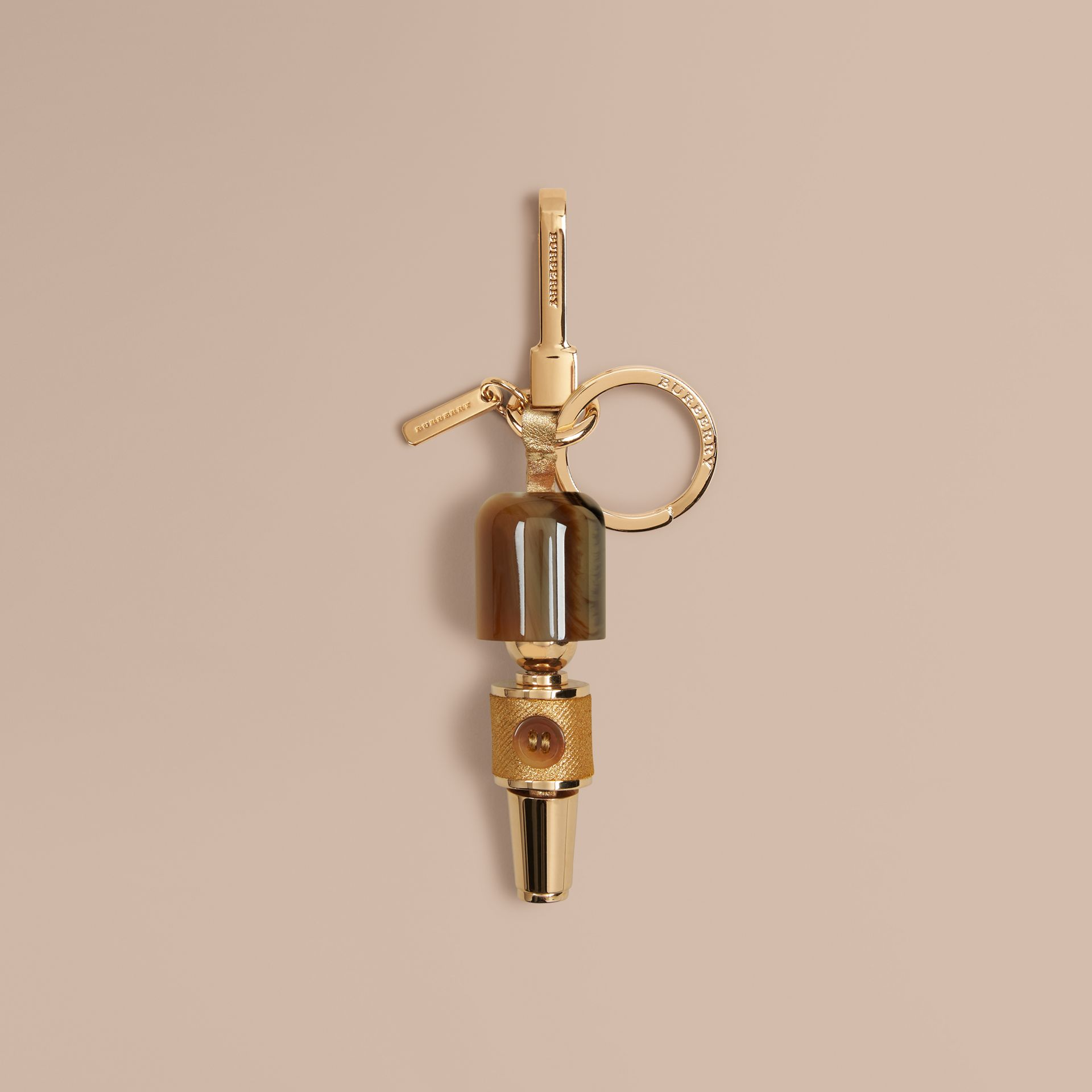 Natural Guardsman Horn-look Key Charm - gallery image 1