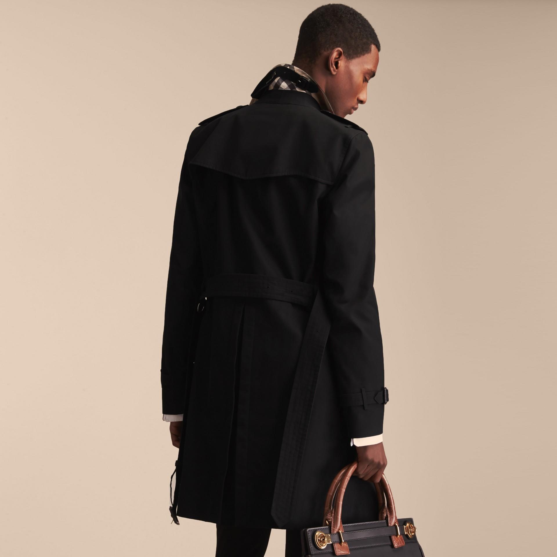 Noir The Sandringham – Trench-coat Heritage long Noir - photo de la galerie 4