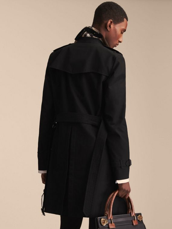 Black The Sandringham – Long Heritage Trench Coat Black - cell image 3
