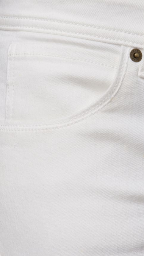 White Skinny Fit Low-Rise White Jeans - Image 2