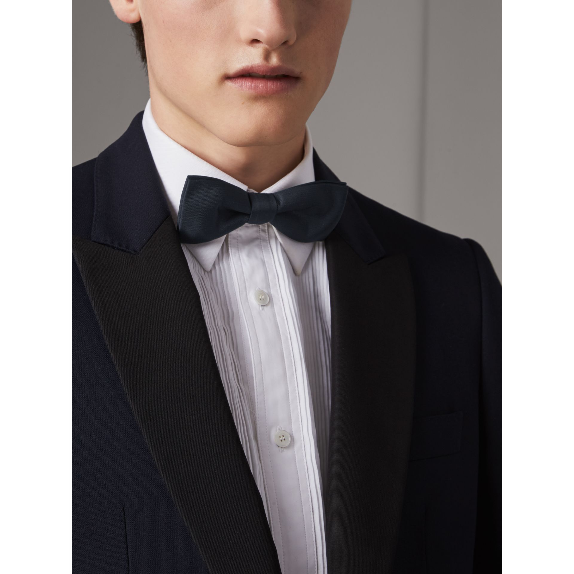 Silk Bow Tie in Midnight - Men | Burberry - gallery image 3