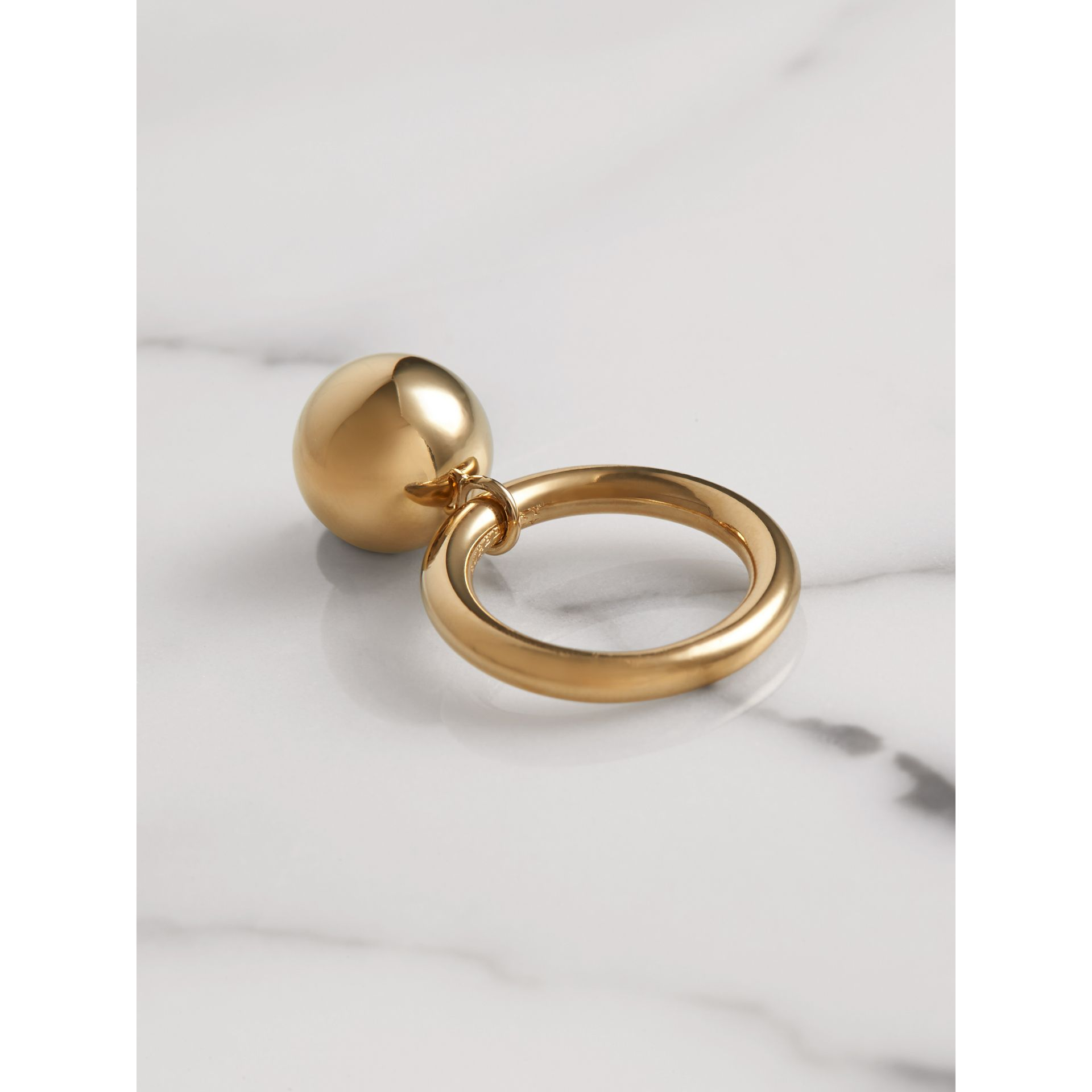 Crystal Charm Gold-plated Ring in Light Gold/crystal - Women | Burberry Canada - gallery image 2