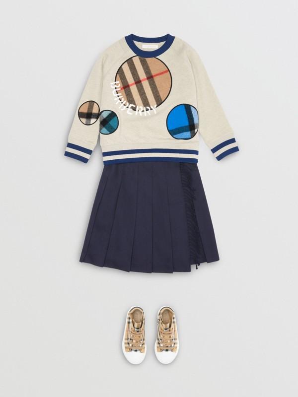 Check Appliqué Cotton Sweatshirt in Multicolour | Burberry - cell image 2