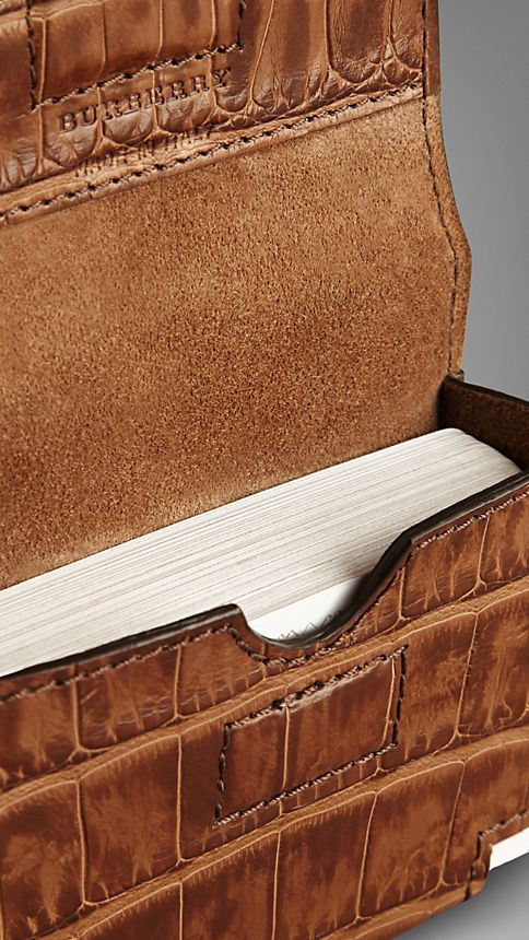 Clay Alligator Leather Playing Card Case - Image 3