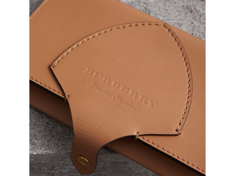 Equestrian Shield Leather Continental Wallet in Camel - Women | Burberry - cell image 1