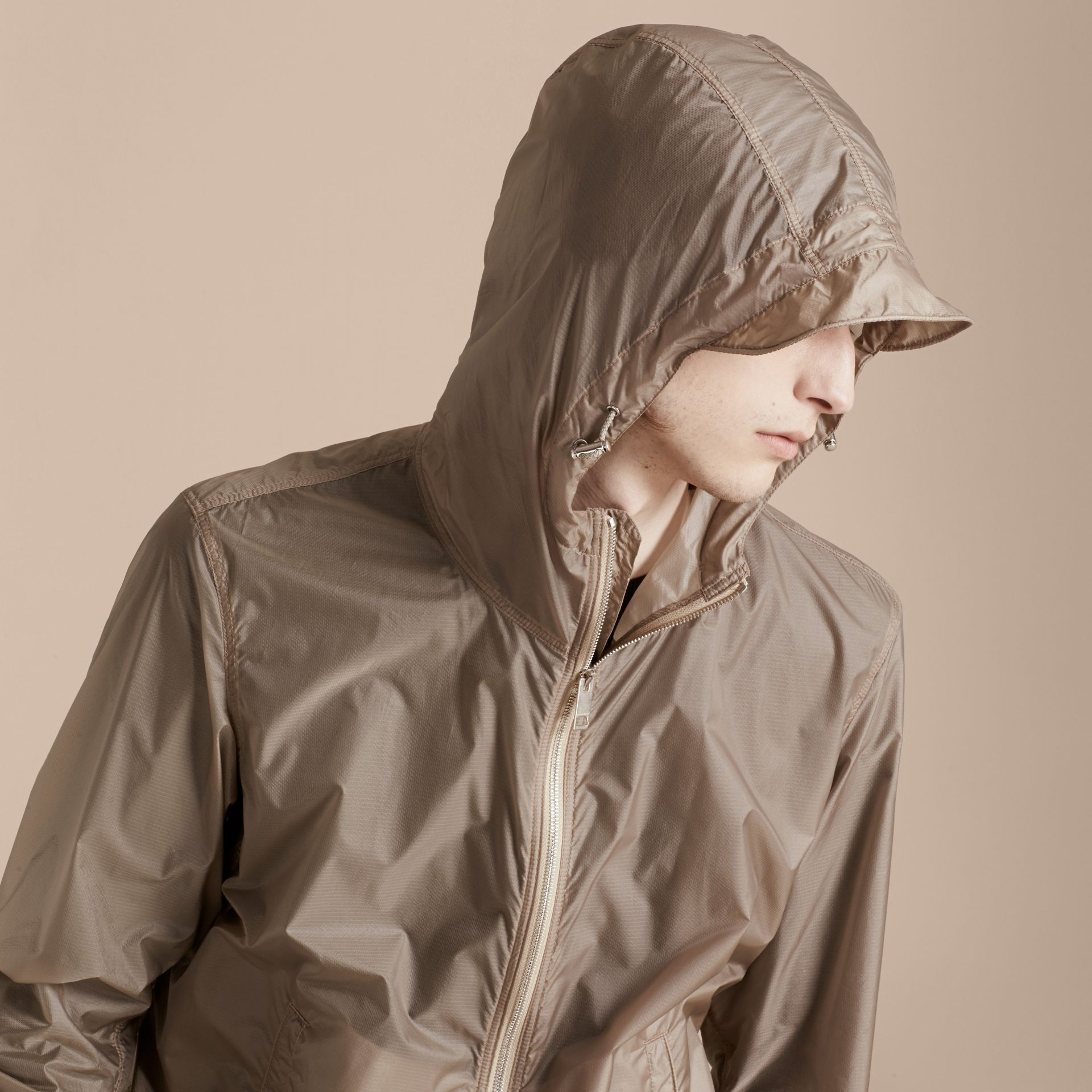 Stone Ultra-lightweight Jacket with Hood Stone - gallery image 5