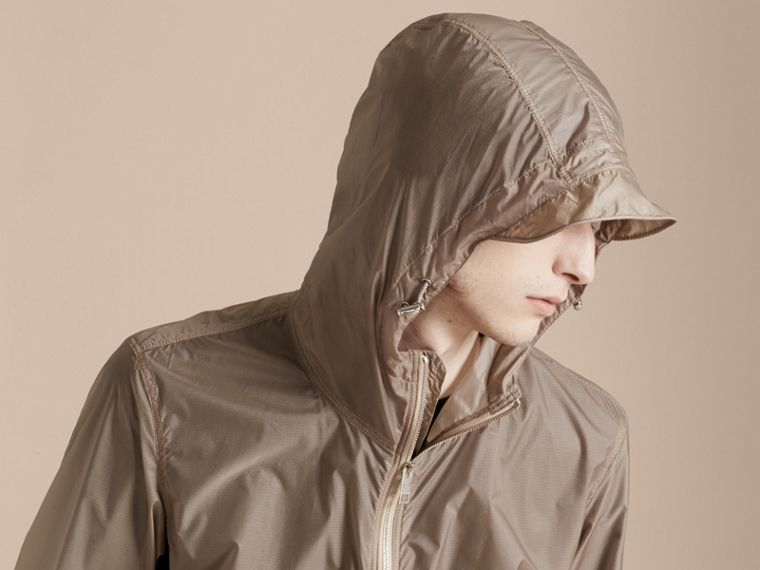 Stone Ultra-lightweight Jacket with Hood Stone - cell image 4