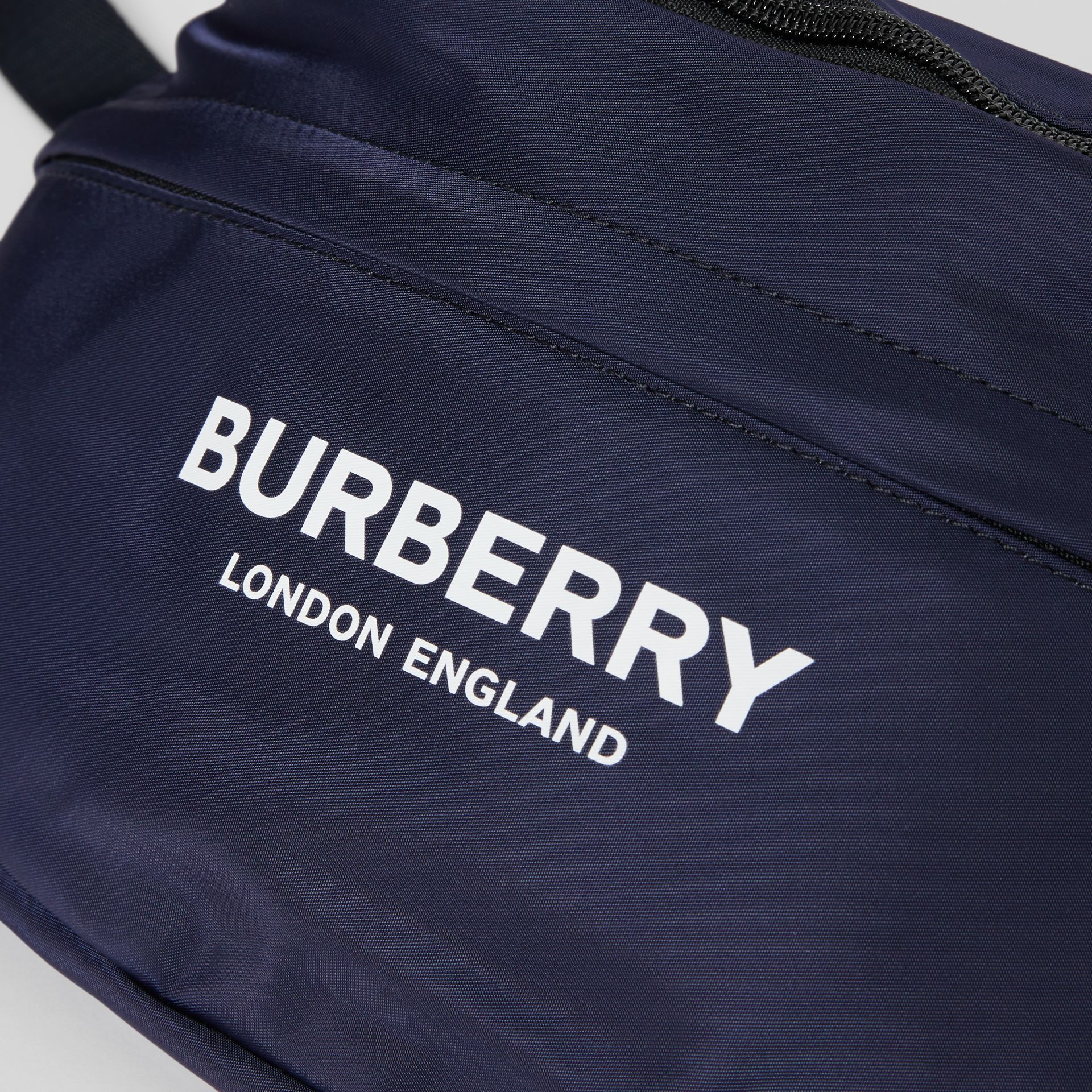 Logo Print Two-tone Convertible Bum Bag in Pearl - Children | Burberry - gallery image 1