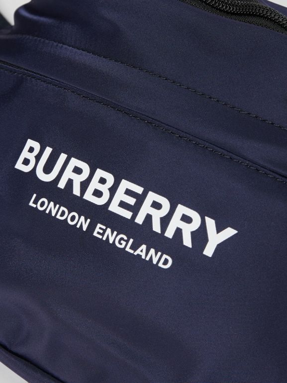 Logo Print Two-tone Convertible Bum Bag in Pearl - Children | Burberry - cell image 1
