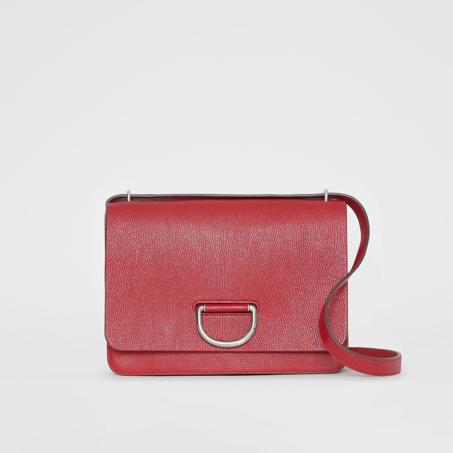 The Medium Leather D-ring Bag in Crimson - Women | Burberry Singapore - gallery image 0