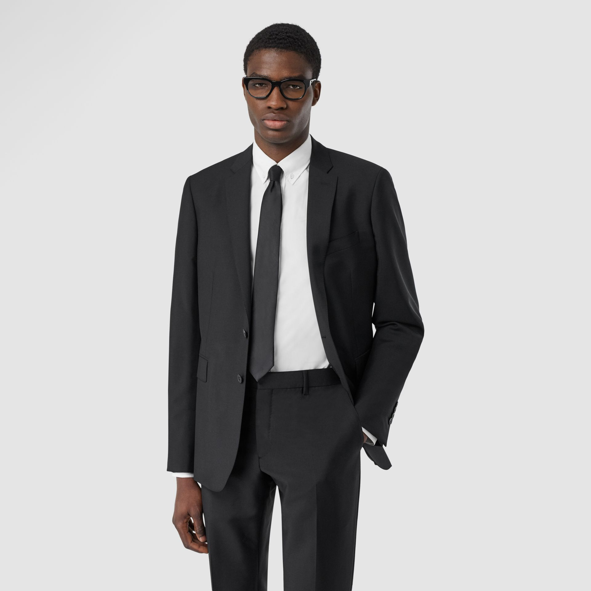 Slim Fit Wool Mohair Suit in Black - Men | Burberry Hong Kong S.A.R - gallery image 6