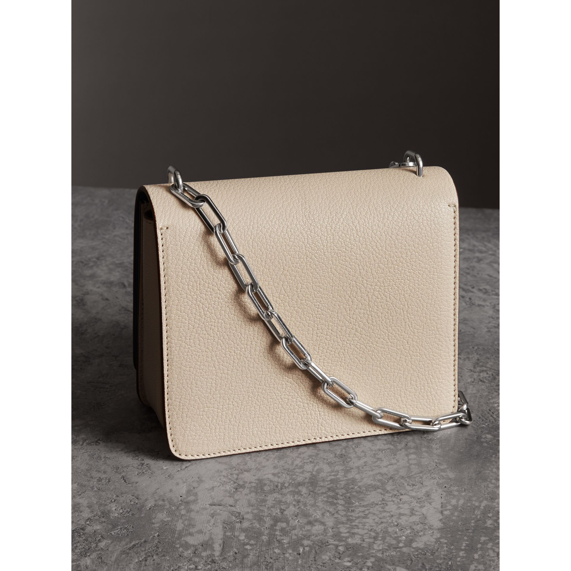 The Small Leather D-ring Bag in Stone - Women | Burberry - gallery image 4