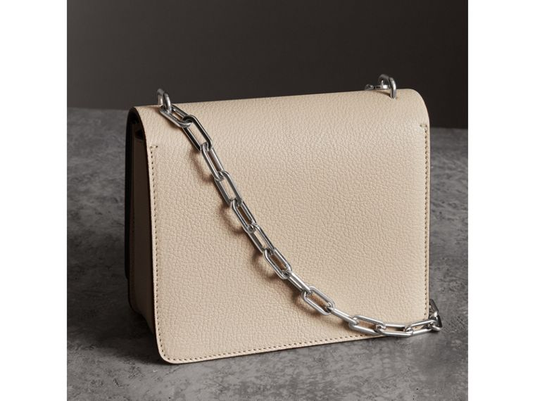 The Small Leather D-ring Bag in Stone - Women | Burberry - cell image 4
