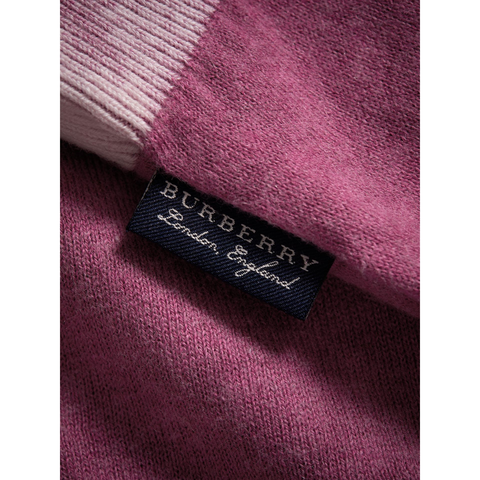 Cashmere Cotton Three-piece Baby Gift Set in Plum Pink | Burberry - gallery image 1