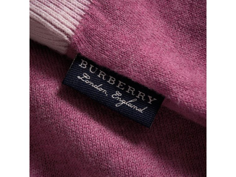 Cashmere Cotton Three-piece Baby Gift Set in Plum Pink | Burberry Hong Kong - cell image 1