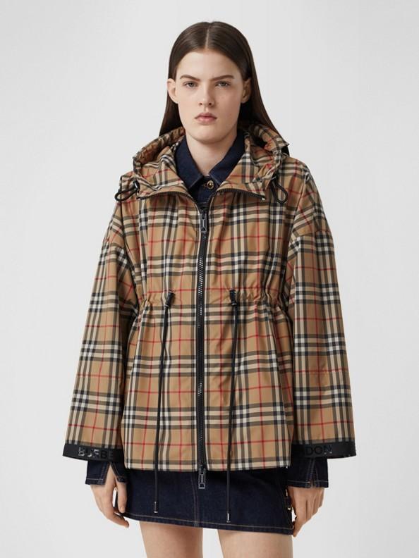 Куртка с капюшоном из переработанного полиэстера (Винтажный Бежевый)