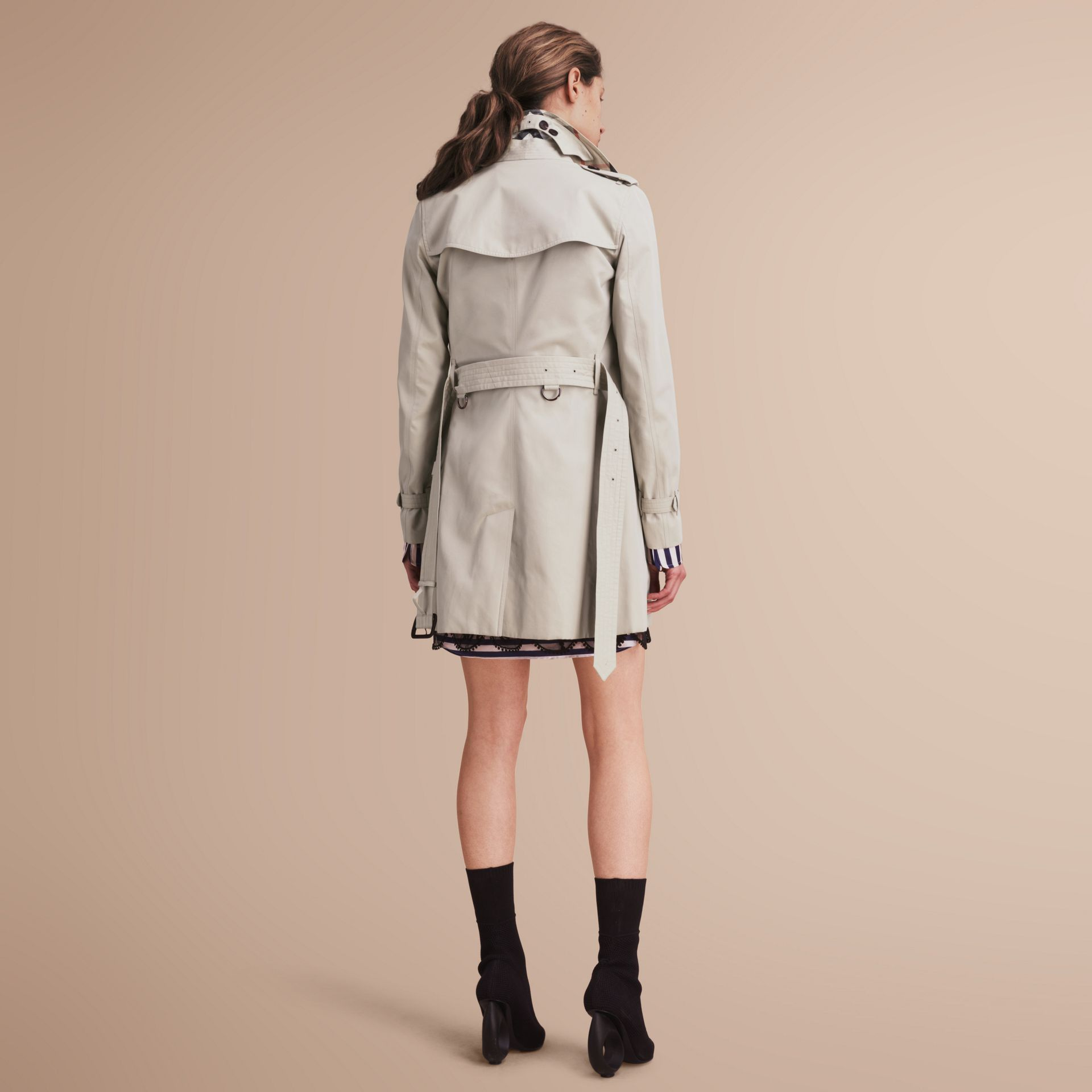 The Kensington – Mid-Length Heritage Trench Coat in Stone - Women | Burberry - gallery image 3