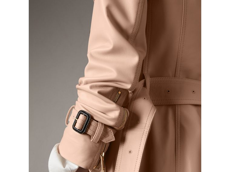 Lambskin Trench Coat in Pale Nude - Women | Burberry Australia - cell image 4