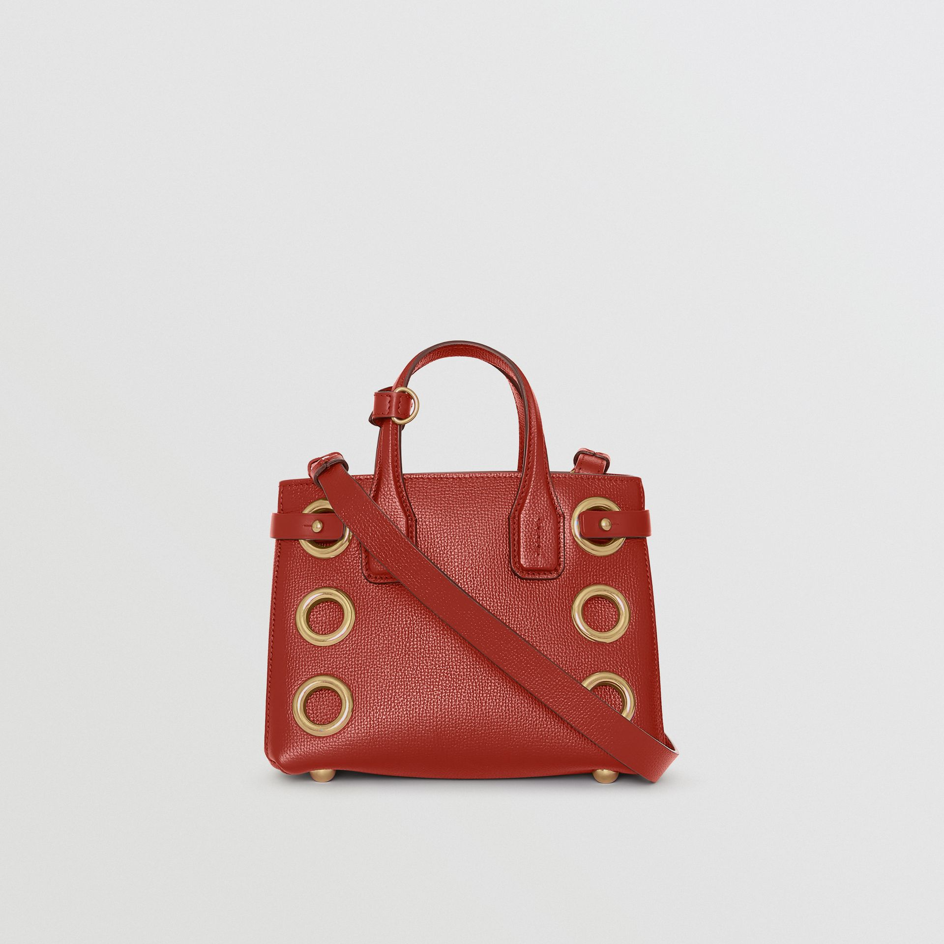 The Baby Banner in Grommeted Leather in Crimson - Women | Burberry United States - gallery image 5