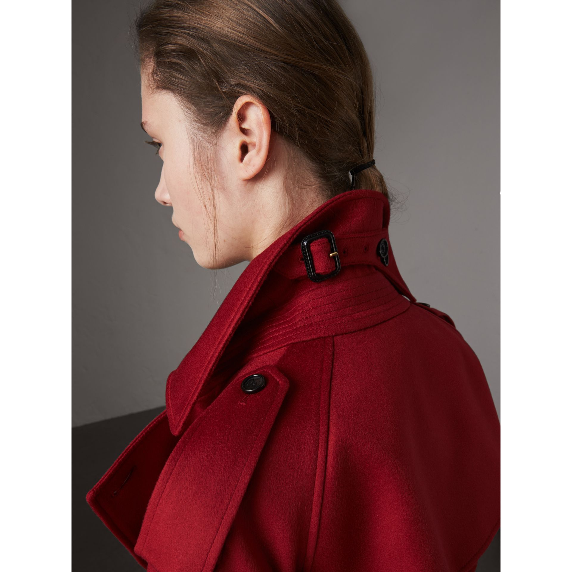 Cashmere Trench Coat in Parade Red - Women | Burberry - gallery image 4