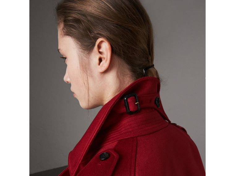 Cashmere Trench Coat in Parade Red - Women | Burberry Australia - cell image 4