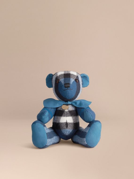 Thomas Bear in Check Cashmere Marine Blue