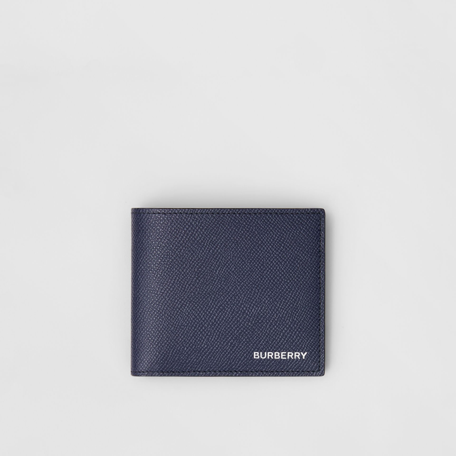Grainy Leather International Bifold Coin Wallet in Regency Blue - Men | Burberry - gallery image 0