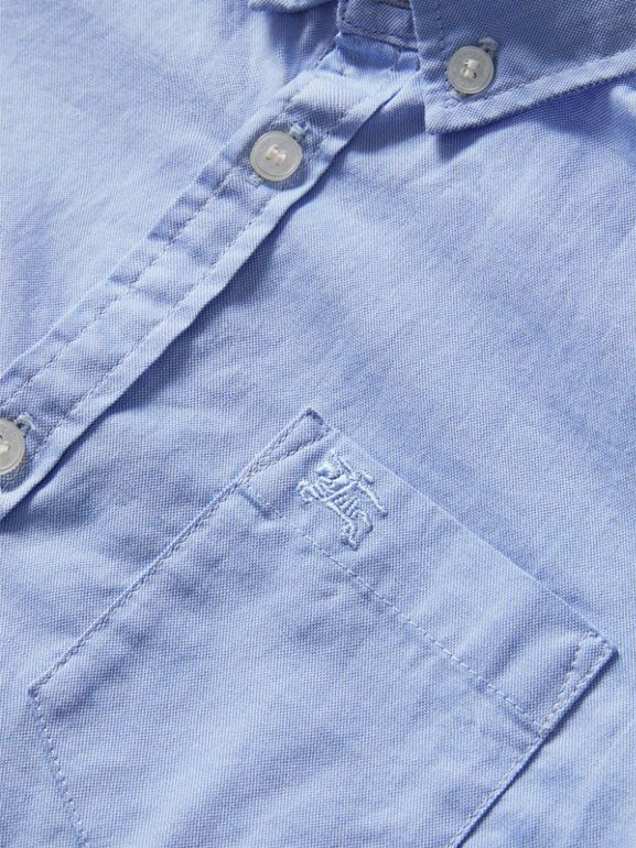 Classic Oxford Shirt in Cornflower Blue - Boy | Burberry - cell image 1