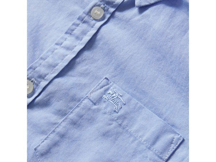 Classic Oxford Shirt in Cornflower Blue - Boy | Burberry Canada - cell image 1