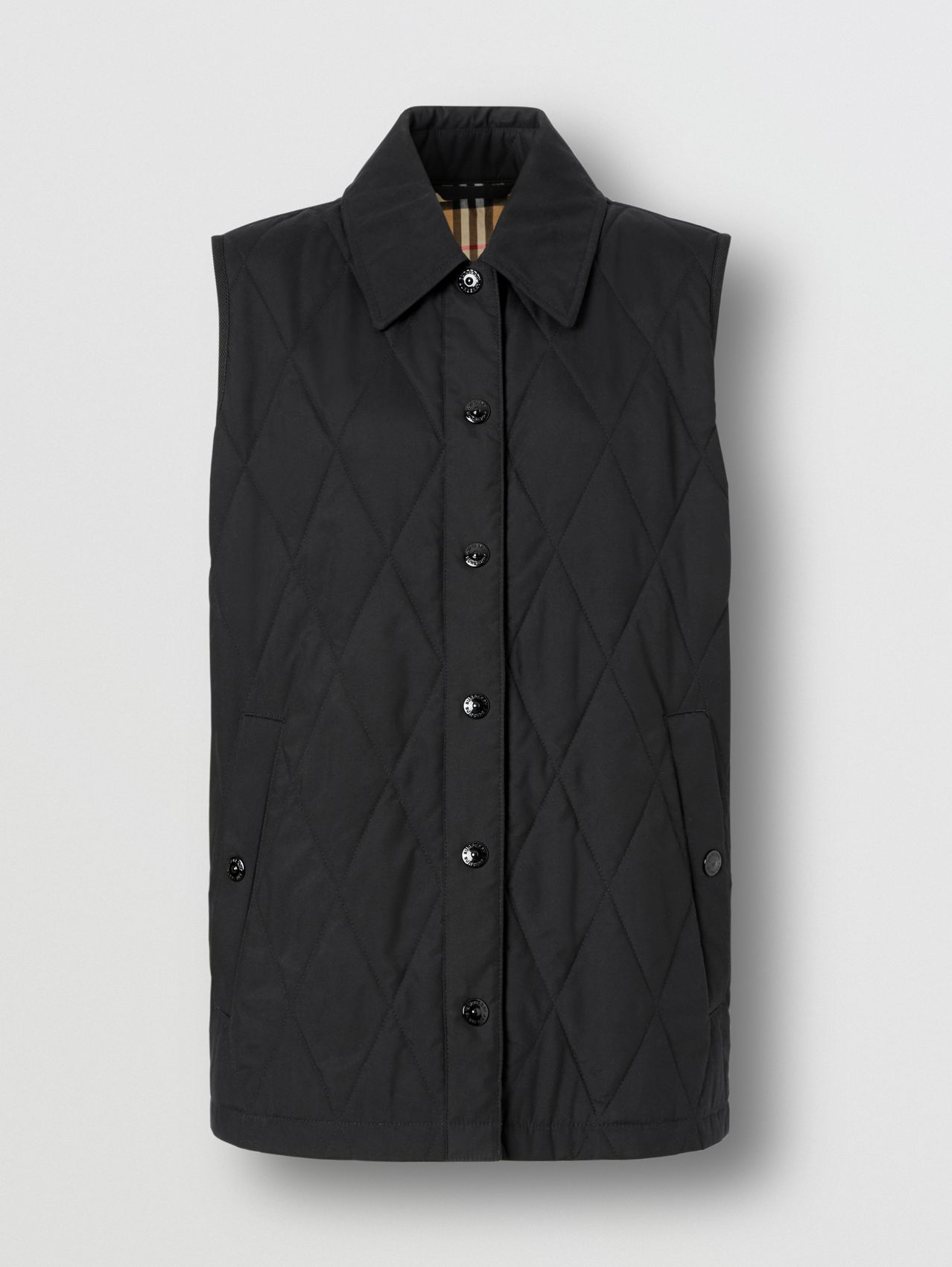Diamond Quilted Gilet (Black)