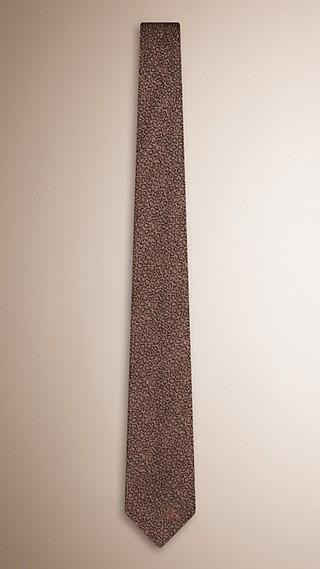 Slim Cut Animal Pattern Silk Tie