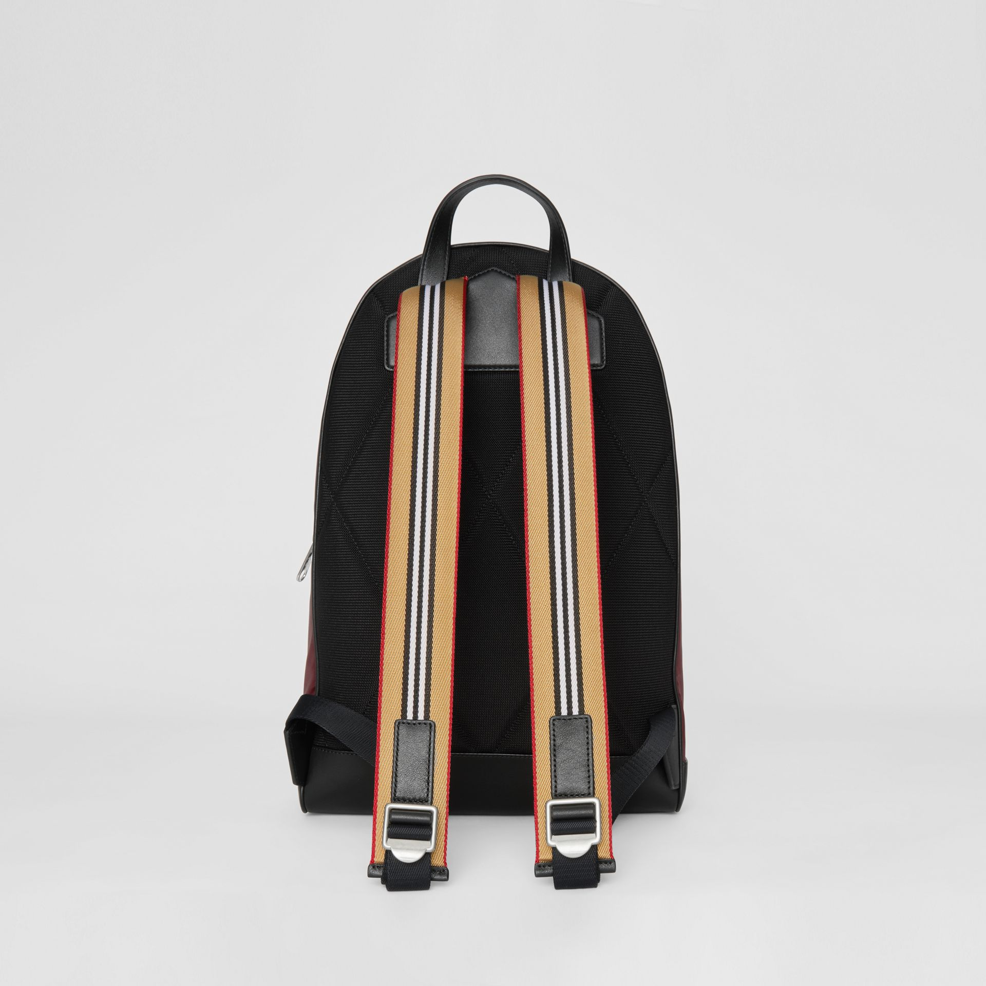 Icon Stripe Detail Nylon Backpack in Oxblood - Men | Burberry Singapore - gallery image 7