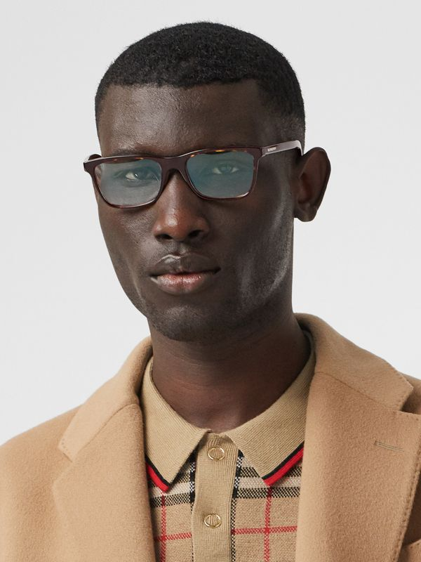 Rectangular Optical Frames in Tortoiseshell - Men | Burberry Australia - cell image 2