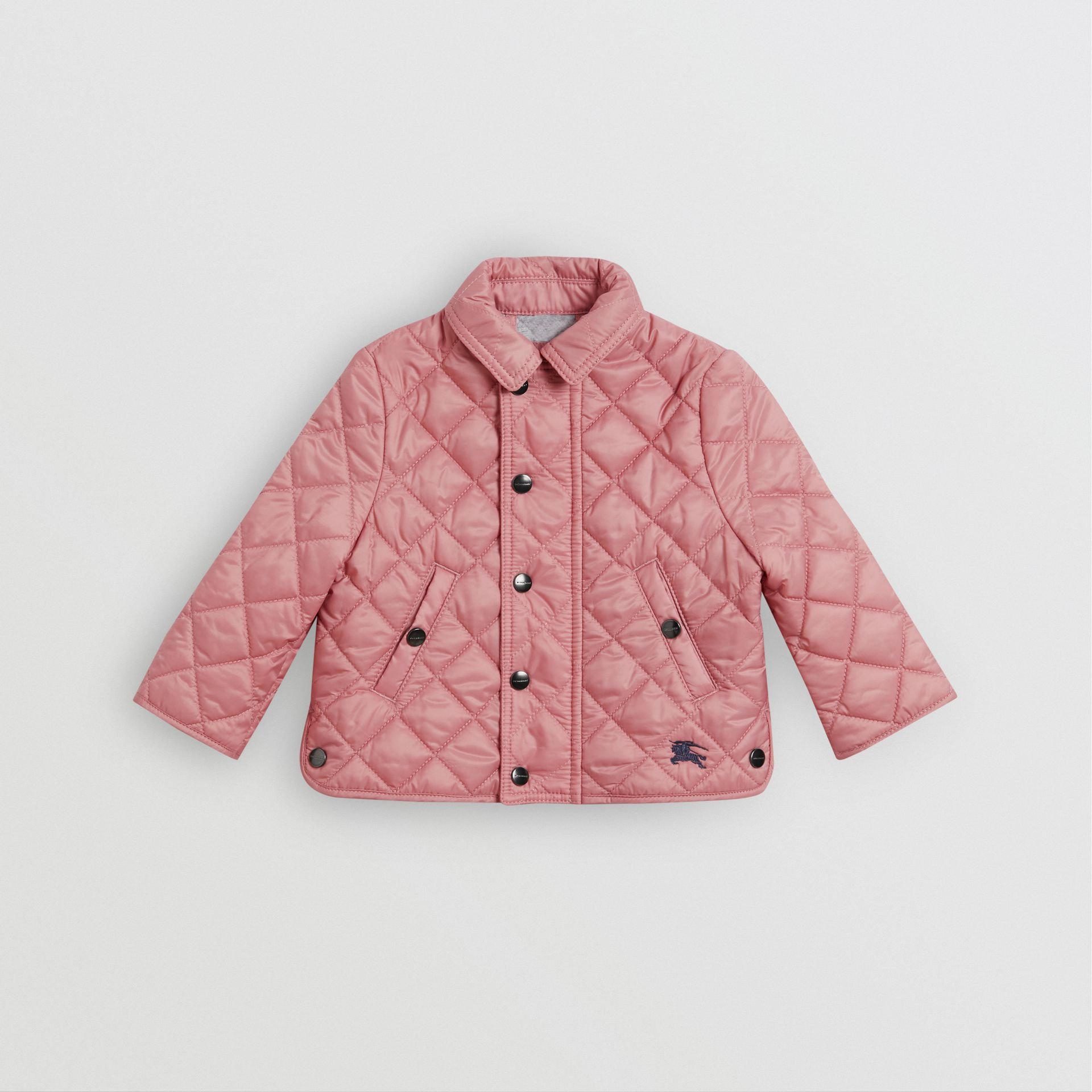 Lightweight Diamond Quilted Jacket in Pale Ash Rose - Children | Burberry - gallery image 0