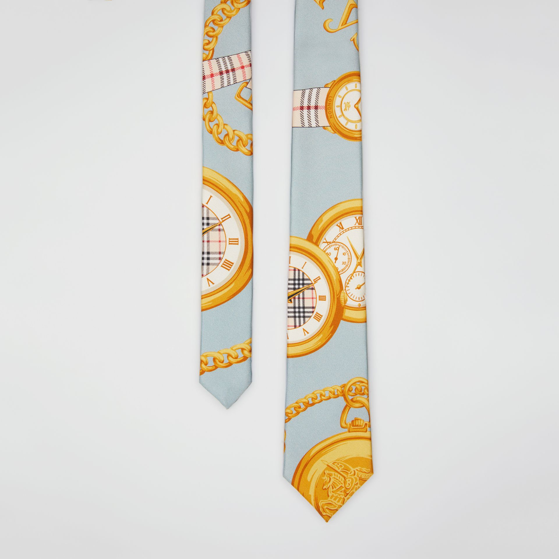 Modern Cut Archive Scarf Print Silk Tie in Blue - Men | Burberry United States - gallery image 0