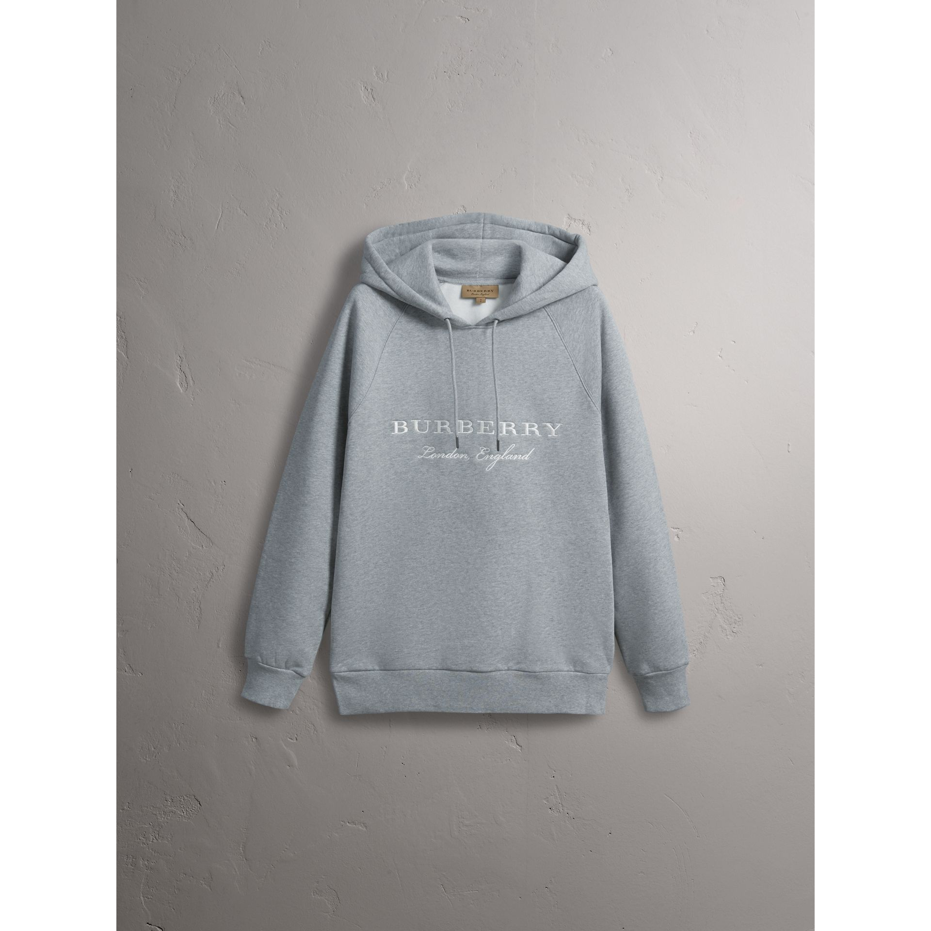 Sweat-shirt brodé à capuche (Camaïeu De Gris) - Homme | Burberry - photo de la galerie 3