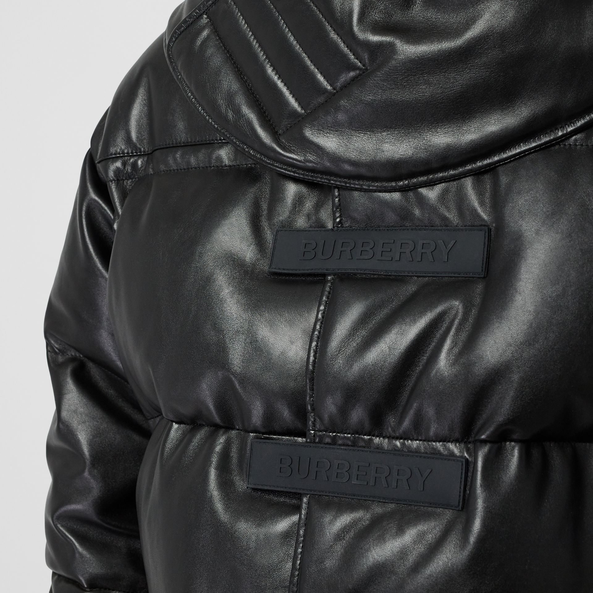 Plonge Lambskin Puffer Jacket in Black - Men | Burberry - gallery image 4