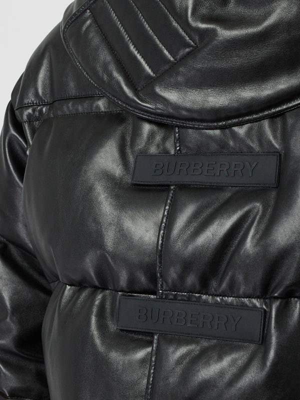 Plonge Lambskin Puffer Jacket in Black - Men | Burberry - cell image 3