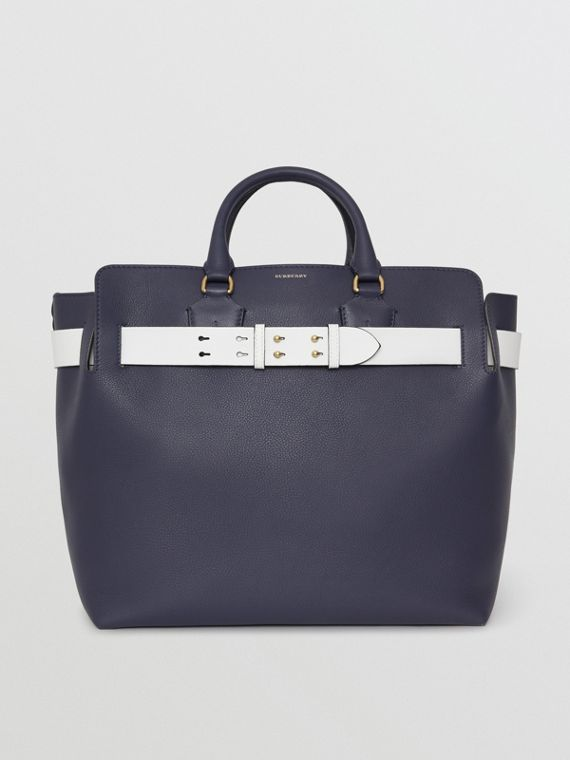 Grand sac The Belt en cuir (Bleu Régence)