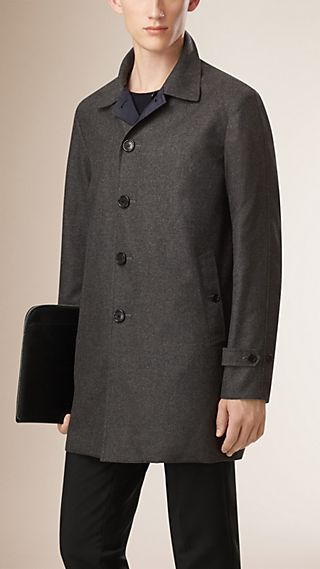 Reversible Wool Cashmere Car Coat