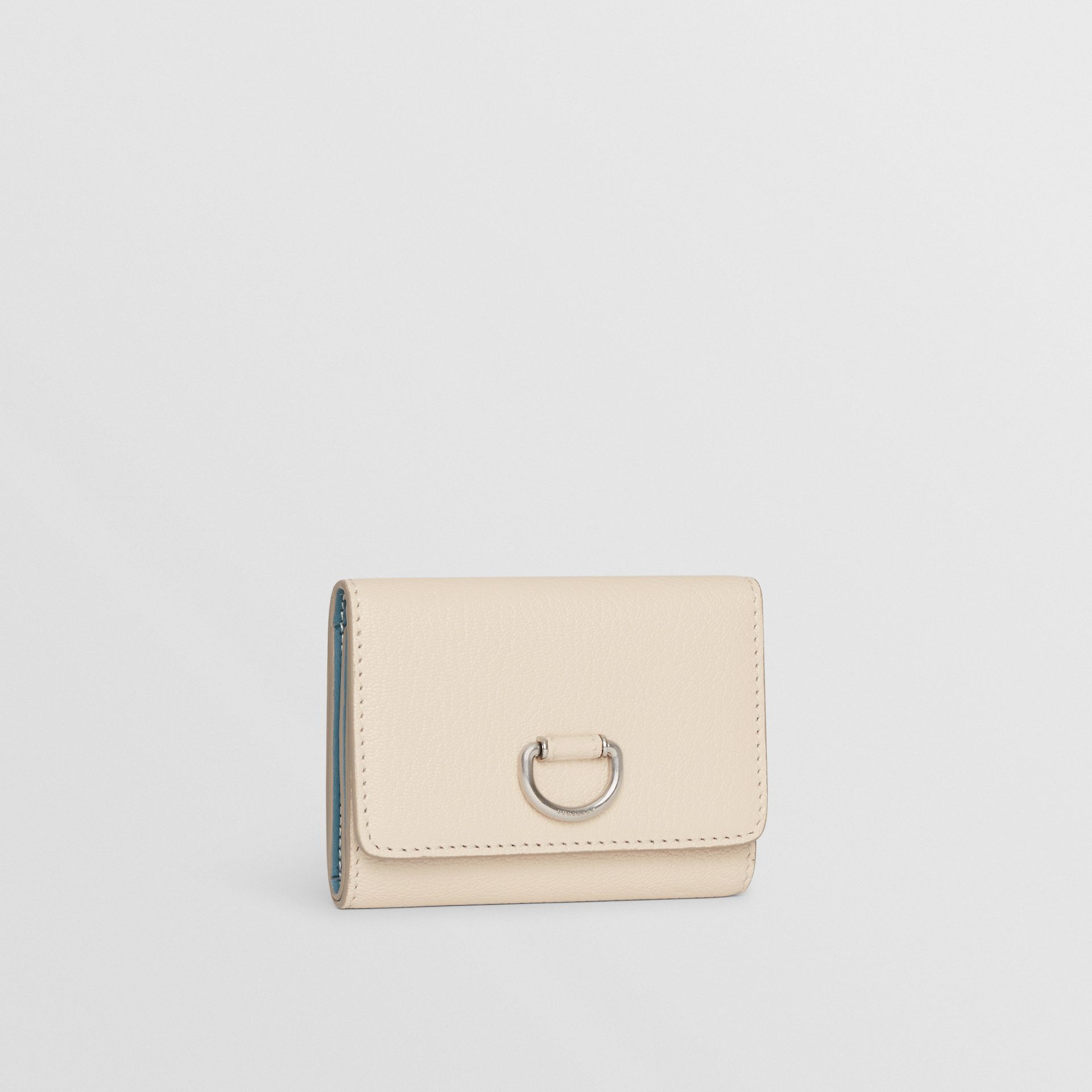 Small D-ring Leather Wallet in Stone - Women | Burberry - gallery image 3