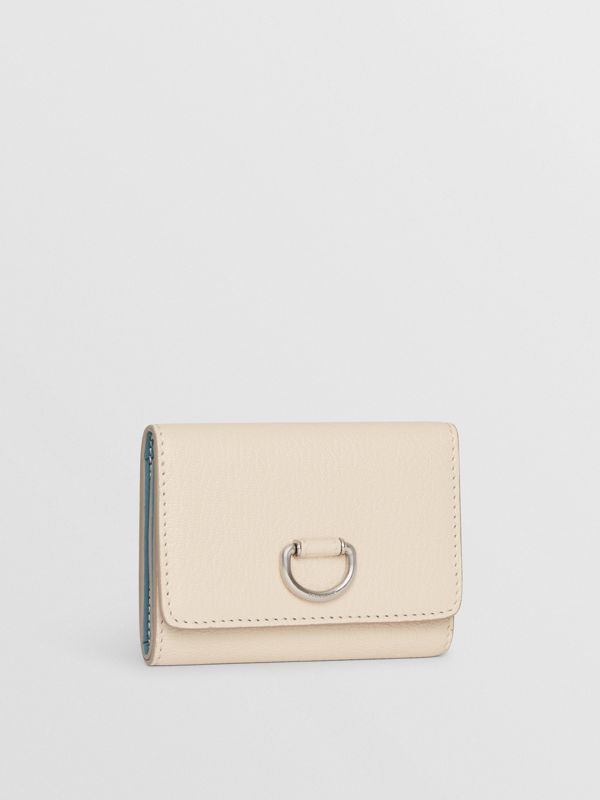 Small D-ring Leather Wallet in Stone - Women | Burberry United Kingdom - cell image 3